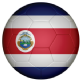 Costa Rica Football Flag 25mm Flat Back